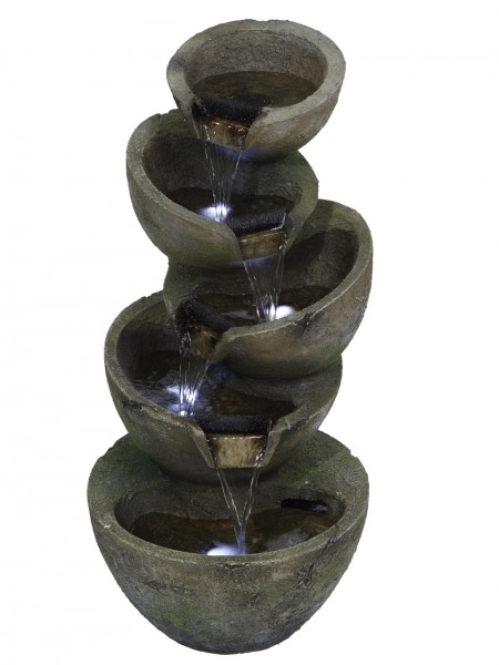 Stacked Green Bowls Water Feature