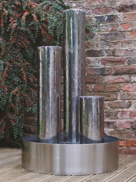 Tresa1 Stainless Steel Triple Tubes With Steel Base And LED Lights