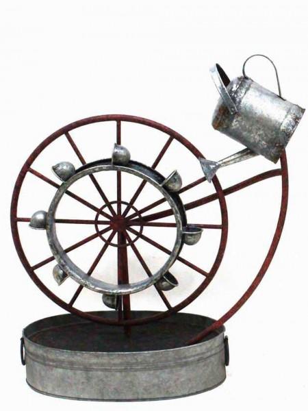 Metal Water Wheel Fountain