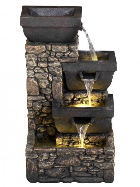Solar Bowls on Stone Wall