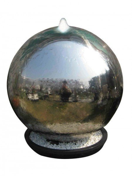 75cm Riga Steel Sphere Water Feature