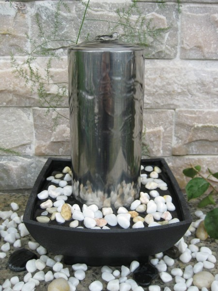 Akra Stainless Steel Indoor Water Feature