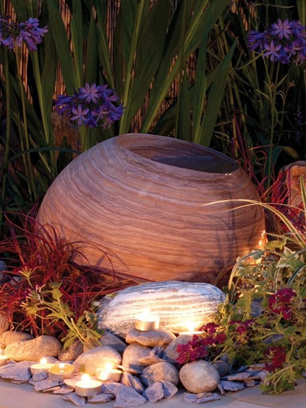 50cm Rainbow Sandstone Infinity Pool Sphere Water Feature