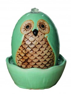 Kelkay Molly Mint Owl Easy Fountain Water Feature