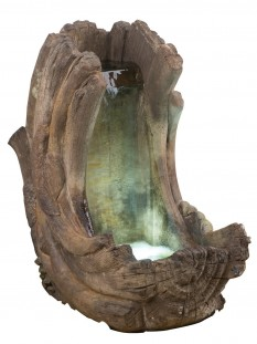 Curving Log Fountain inc Light Relic Unique Water Feature