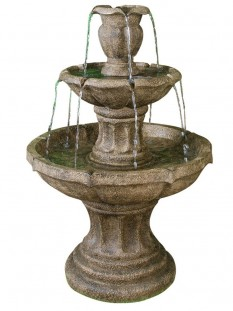 3 Tier Classic Stone Fountain Water Feature
