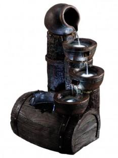 Flowing Barrel Water Feature