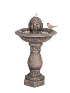 Solar Finial on Pillar Water Feature