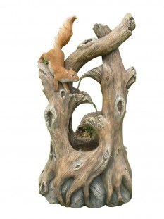 Squirrel on Branches Water Feature