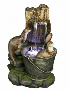 Two Otters at Tap Water Feature