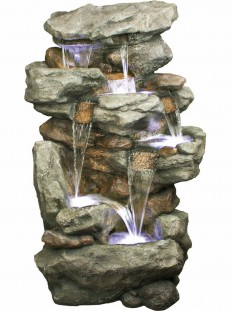Six Fall Rustic Slate Formation Water Feature by Aqua Creations