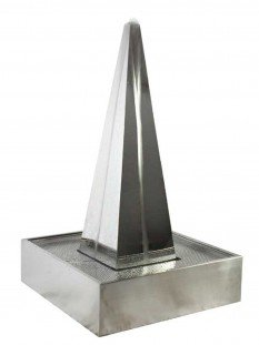 Tissino 115cm Steel Pyramid in Steel Base Water Feature