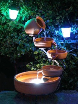 Mains Powered Terracotta Cascade Water Feature