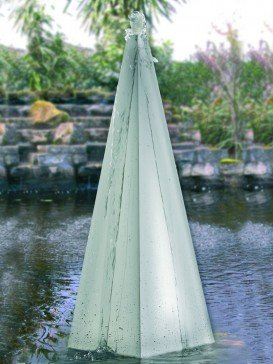 Tissino 75cm Steel Pyramid Water Features