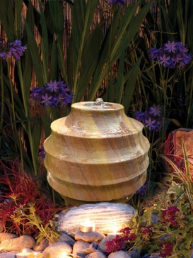 Scalloped Rainbow Sandstone Sphere 40cm Water Feature