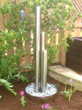 Tresa3 Stainless Steel Triple Tubes With Steel base And LED Lights