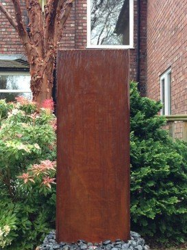 Corten Staffora 1.2m Water Feature with Pebble Pool