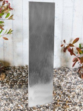 Steel Staffora 1.8m Water Feature with Pebble Pool Base