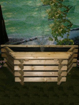 Flat back pool 25 Gallon Garden Fountain