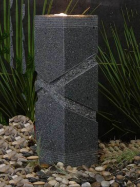 Cross Grooved Granite Water Feature Kit