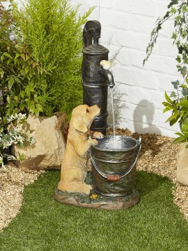 Puppy and Friend Water Feature