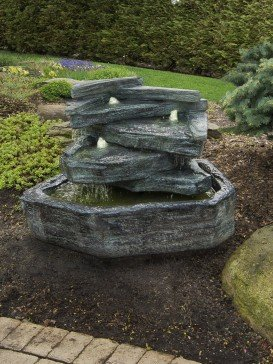 Slate Springs Fountain inc Lights Relic Lava Water Feature