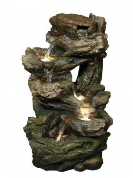 Medium Six Fall Woodland Water Feature by Aqua Creations
