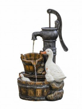 Ducks at Pump Water Feature by Aqua Creations