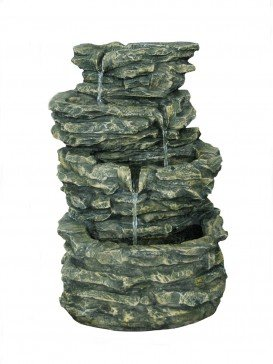 Solar Four Pool Rock Water Feature by Aqua Creations