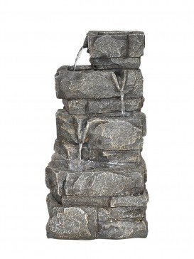 Solar Three Drop Rockface Water Feature by Aqua Creations