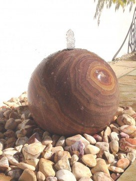 Rainbow Sandstone Sphere 50cm Diameter Water Feature Kit