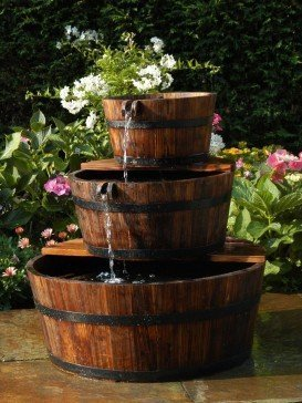 Edinburgh Wooden Barrel Fountain