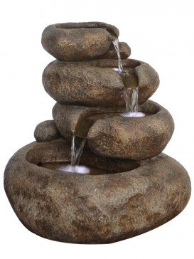 Four Level Sandstone Boulder Water Feature