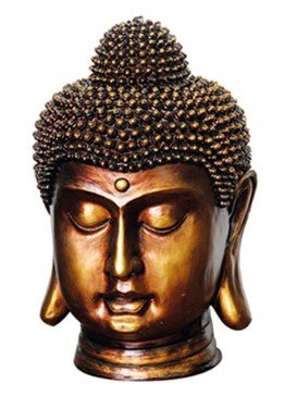 Bronze Buddha Head Water Feature