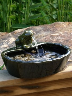 Frog Ornament For Ceramic Water Features