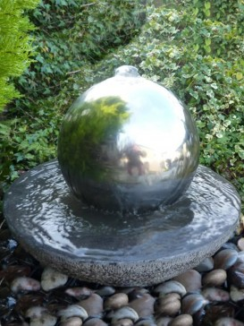 Babbling Bowl with Sphere Water Feature