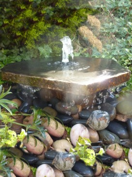 Basalt Slab Fountain with Plinth Water Feature