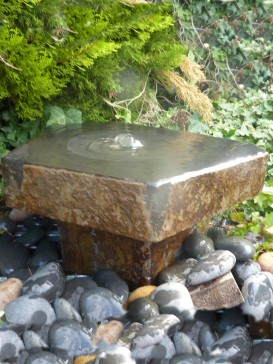 Babbling Basalt on Plinth Water Feature