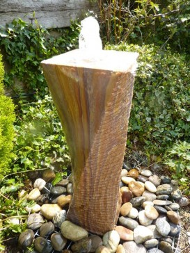 Rainbow Drilled Twisted Column Water Feature