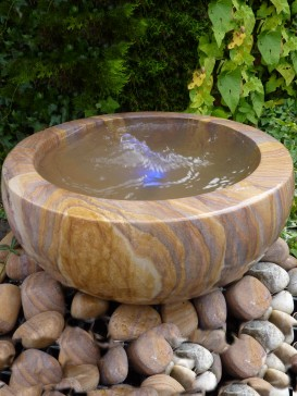 Rainbow Babbling Urn Water Feature