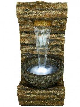 Burlington Log Falls Water Feature by Aqua Creations