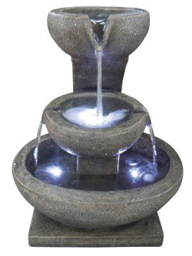 Three Granite Bowl Feature Water Feature by Aqua Creations