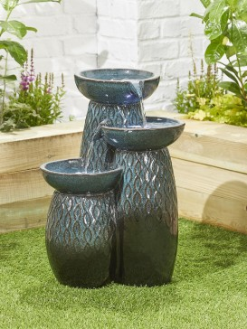 Glazed Trio Water Feature