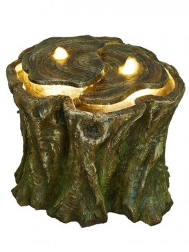 Hudson Tree Trunk Water Feature by Aqua Creations