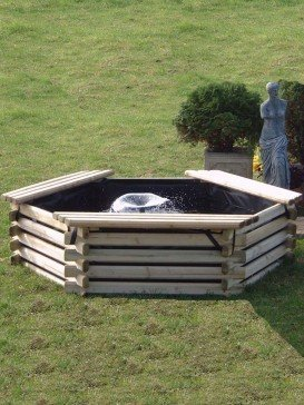 100 Gallon Swedish Deck Pond Garden Fountain Water Feature