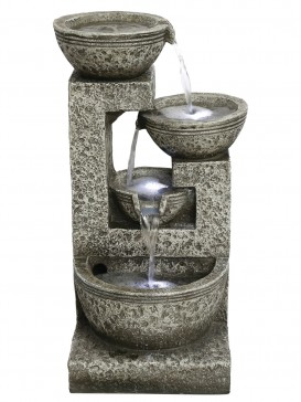 Medium Grey Four Bowl Water Feature