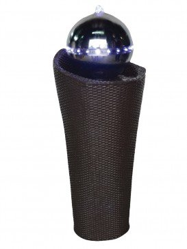 Sardinia Rattan Column Water Feature