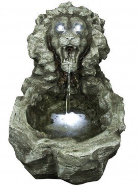 Roaring Lions Head Water Feature by Aqua Creations