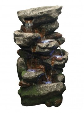 Multi Rockfalls Water Feature with LED Lights by Aqua Creations - PWFF4059