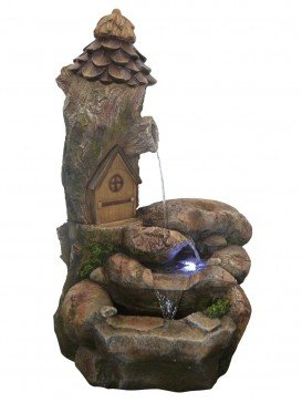 Fairy House Rock Falls Water Feature with LED Lights by Aqua Creations - PWFH4508